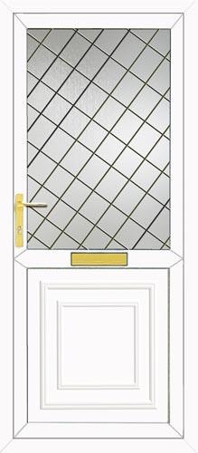Reagan Half Panel Diamond Lead UPVC Front Door