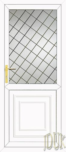 Reagan Half Panel Diamond Lead UPVC Cottage Door