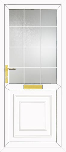 Reagan Half Panel Georgian Bar UPVC Front Door