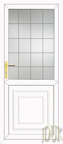 Reagan Half Panel Square Lead UPVC Back Door
