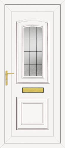 Reagan One Square Lead UPVC Front Door