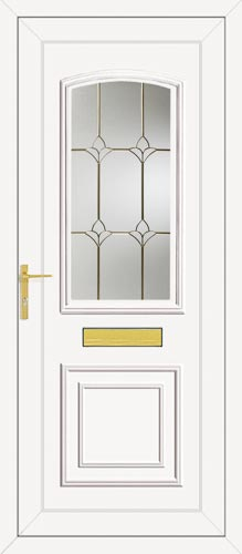 Roosevelt One Carver Gold UPVC Front Door