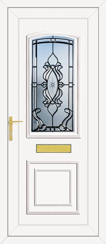 Roosevelt One Hamley (Coloured Bevel) UPVC Front Door