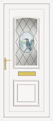 Roosevelt One Kingfisher UPVC Front Door