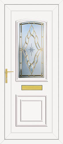 Roosevelt One Sentiment (Coloured Bevel) UPVC Front Door