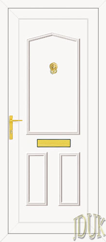 Taft Solid UPVC Back Door