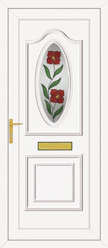 Thomas One Single Climbing Rose UPVC Front Door