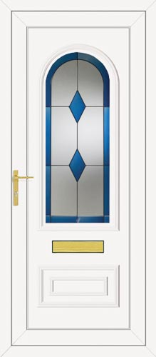 Truman One Blue Diamond UPVC Front Door