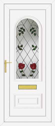 Truman One Classic Climbing Rose UPVC Front Door