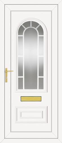 Truman One Classic Georgian Bar UPVC Front Door