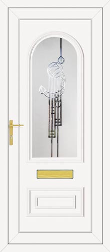 Truman One Crystal Rennie (Resin Sandblast) UPVC Front Door