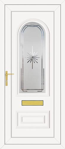 Truman One Crystal Star (Resin Sandblast) UPVC Front Door