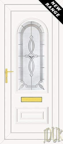 Truman One Inclination (Resin Sandblast) UPVC Front Door