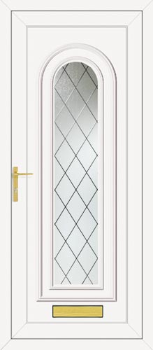 Washington One Diamond Lead UPVC Front Door