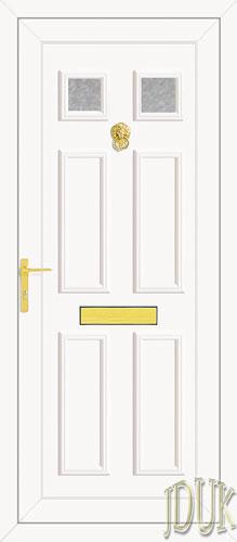 Wilson Two Glazed UPVC Front Door