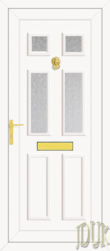 Wilson Four Glazed UPVC Front Door