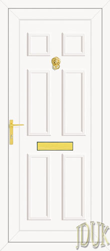 Wilson Solid UPVC Back Door