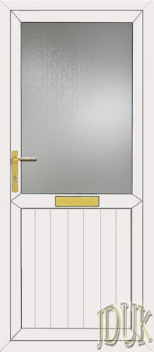 Groove Half Panel UPVC Front Door
