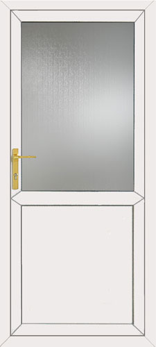 Half Glazed Flat Panel UPVC Front Door