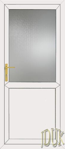 2xG Half Glazed Flat Panel UPVC Back Door