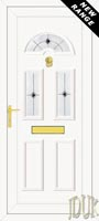 Carter Three Black Fusion (Resin Sandblast) UPVC Front Door