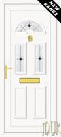 Carter Three Black Fusion (Resin Sandblast) UPVC Front Door