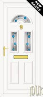 Carter Three Blue Bubbles UPVC Front Door