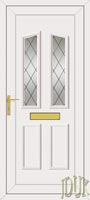 Clinton Two Diamond Lead UPVC Front Door