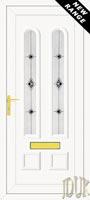 Grant Two Black Fusion (Resin Sandblast) UPVC Front Door