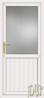 Groove Half Panel UPVC Cottage Door