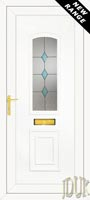 R400 Blue Diamonds UPVC Front Door