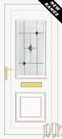 Roosevelt One Black Fusion (Resin Sandblast) UPVC Front Door