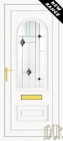 Truman One Black Fusion (Resin Sandblast) UPVC Front Door