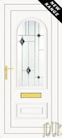 Truman One Black Fusion (Resin Sandblast) UPVC Front Door