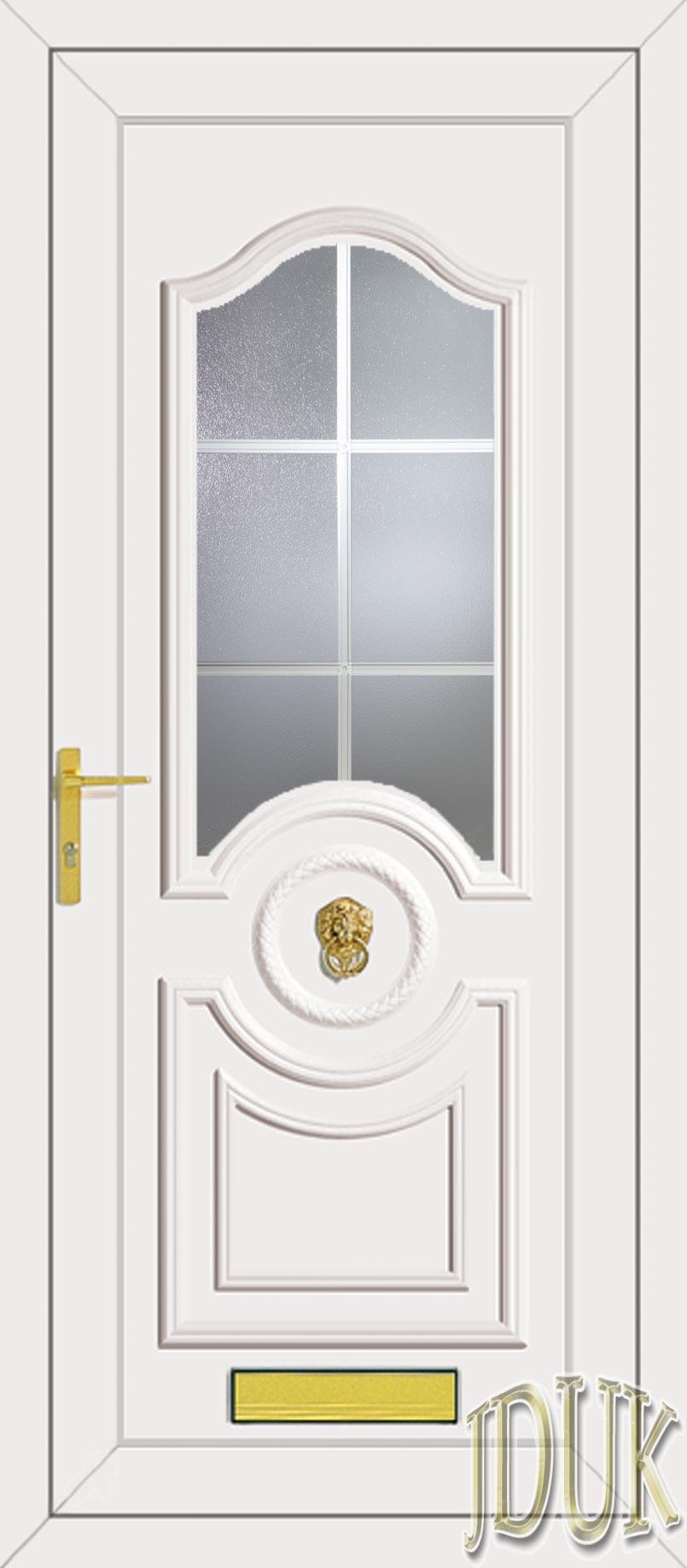 Buckingham One Georgian Bar Upvc Front Door