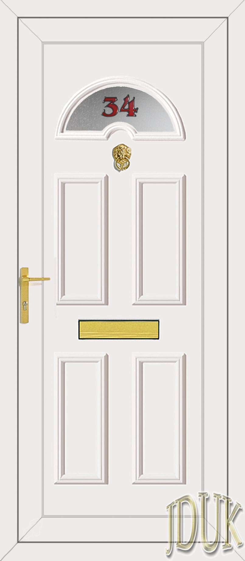 Carter one house number upvc front door for Upvc front doors