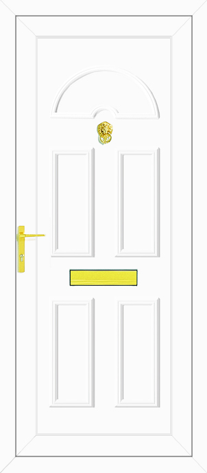 Carter solid upvc back door for Solid back doors