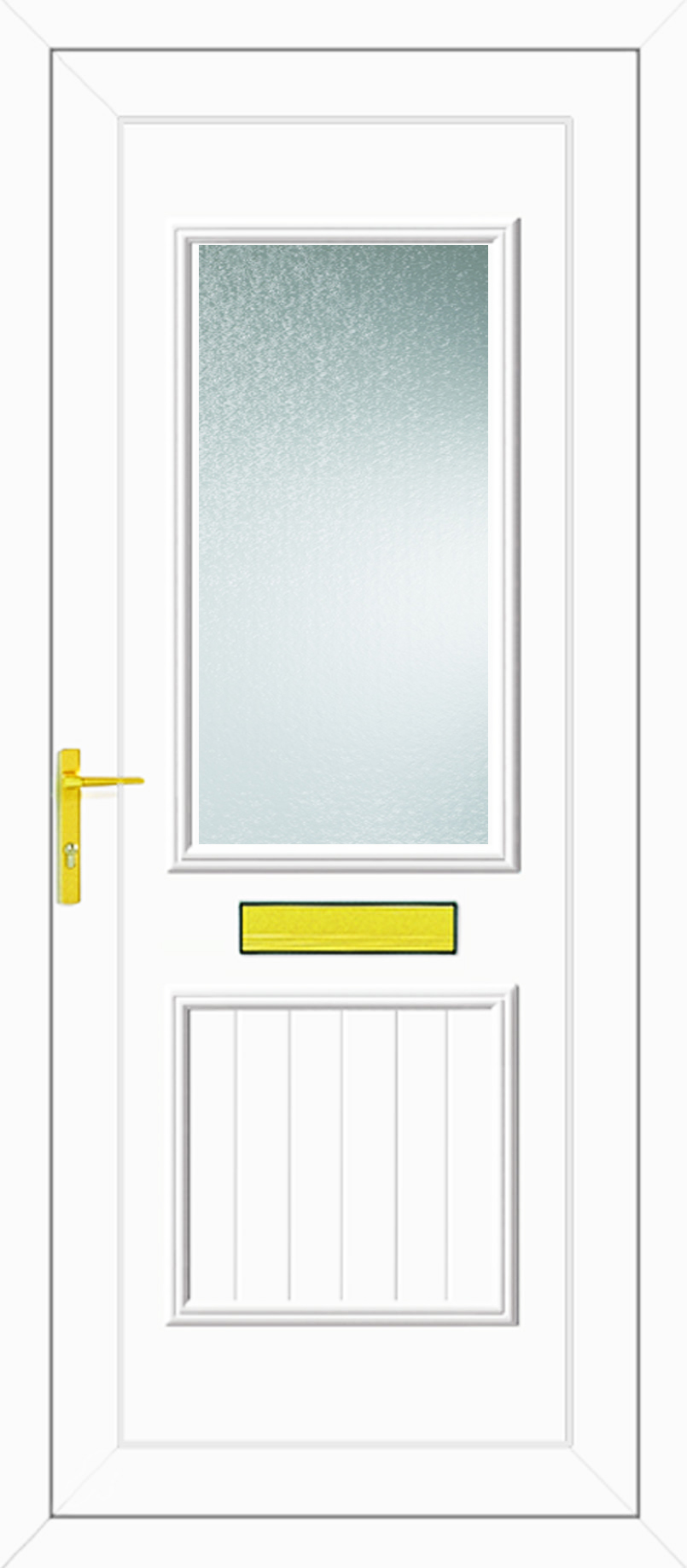 Chester one glazed upvc front door for Wood effect upvc french doors