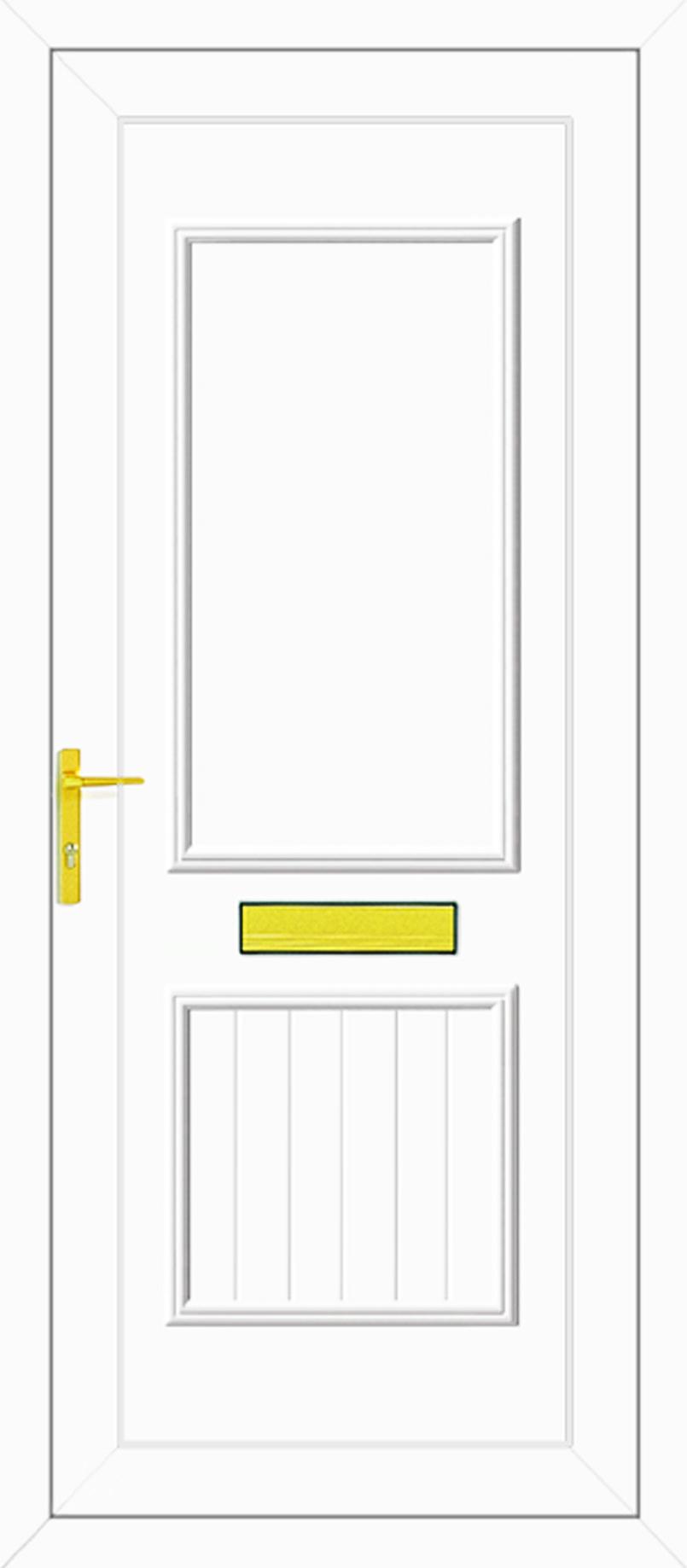 Chester solid upvc front door for Solid back doors