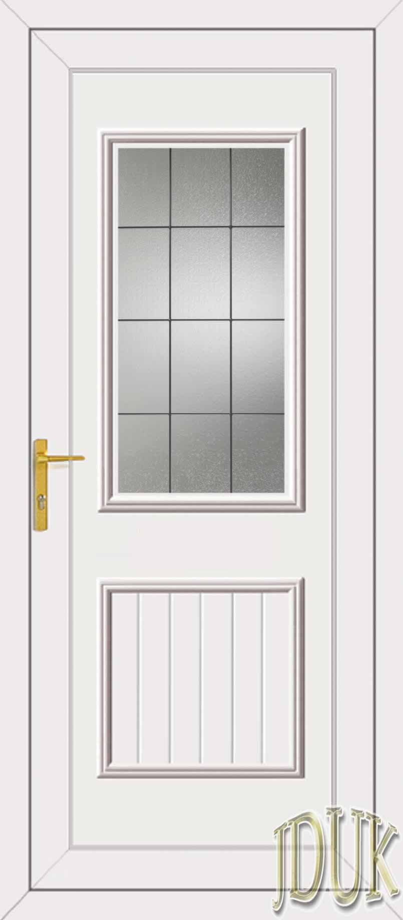 Chester one square lead upvc back door for Upvc glass front doors
