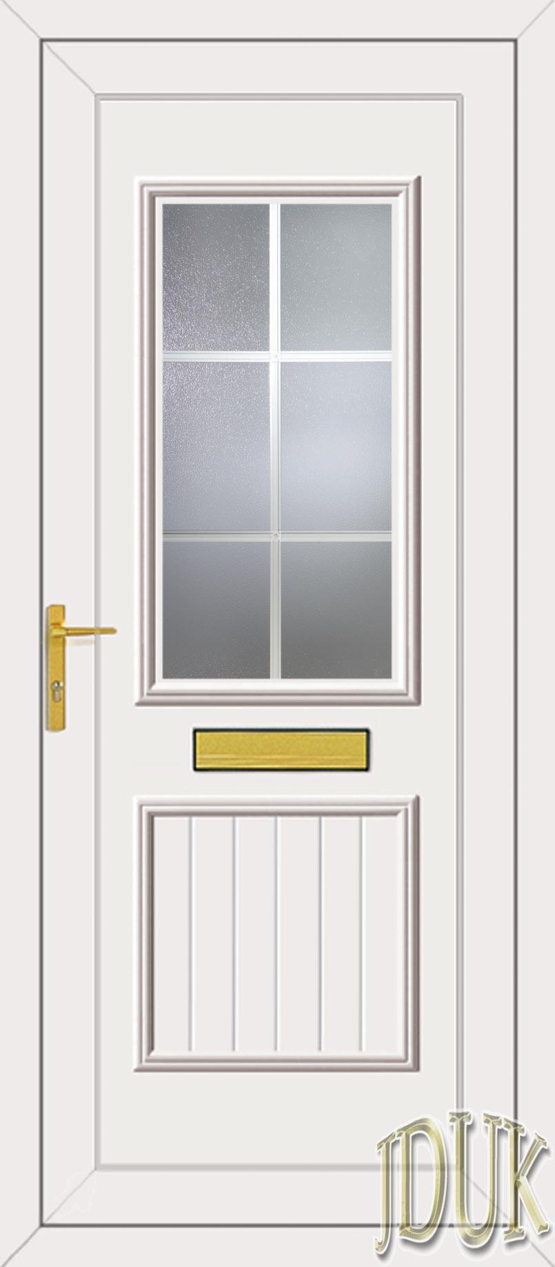 Chester One Georgian Bar Upvc Front Door