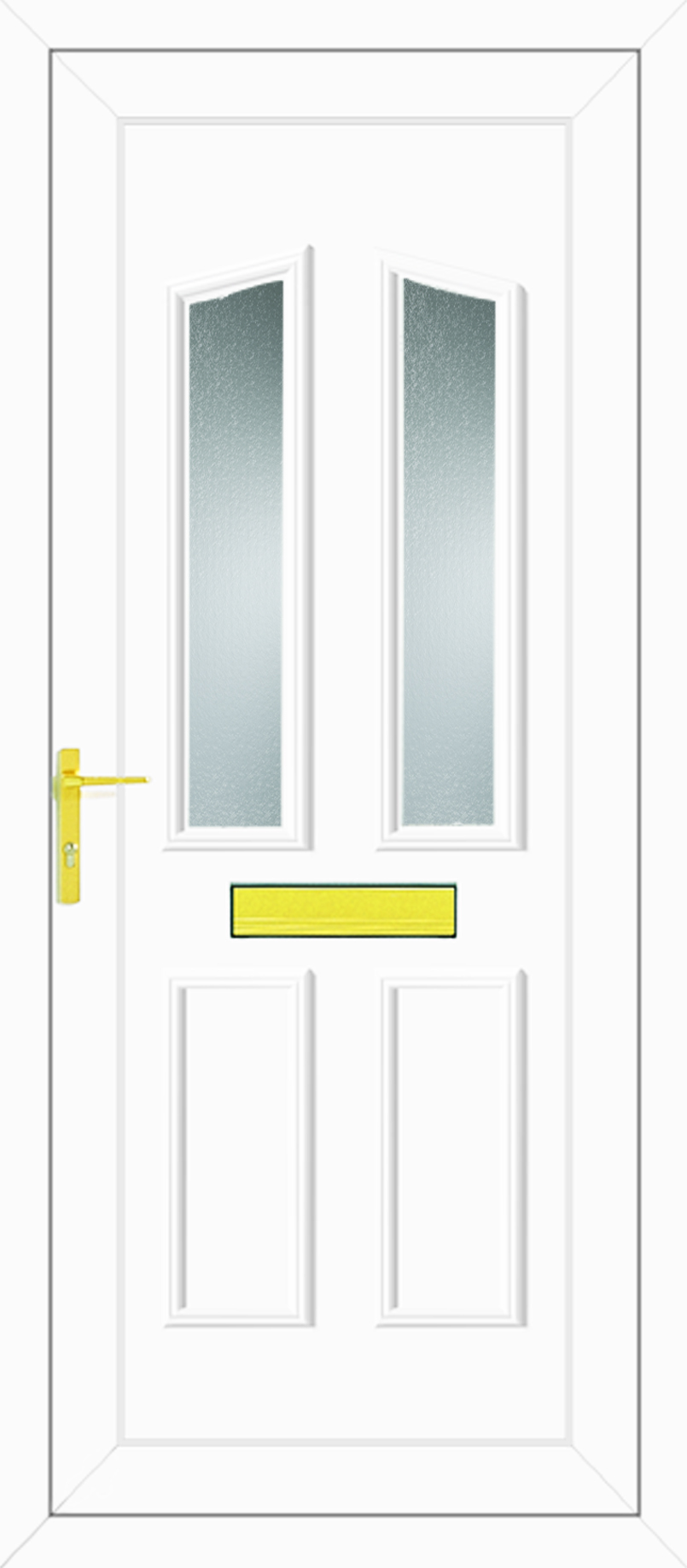 Clinton two glazed upvc front door for Upvc doors uk