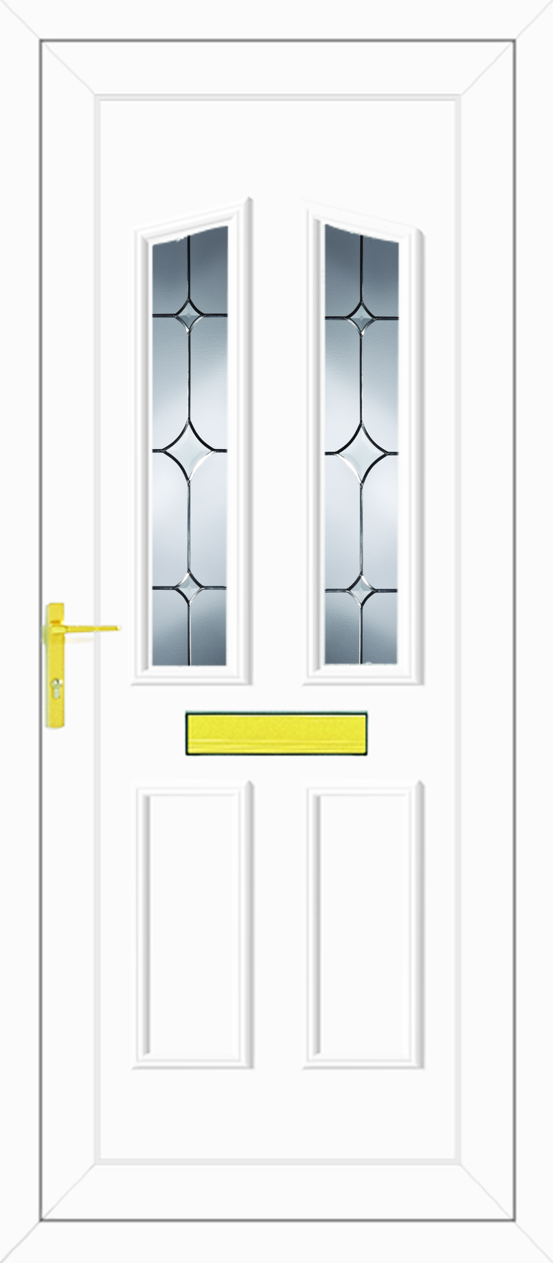 Clinton two tristar upvc front door for Upvc glass front doors