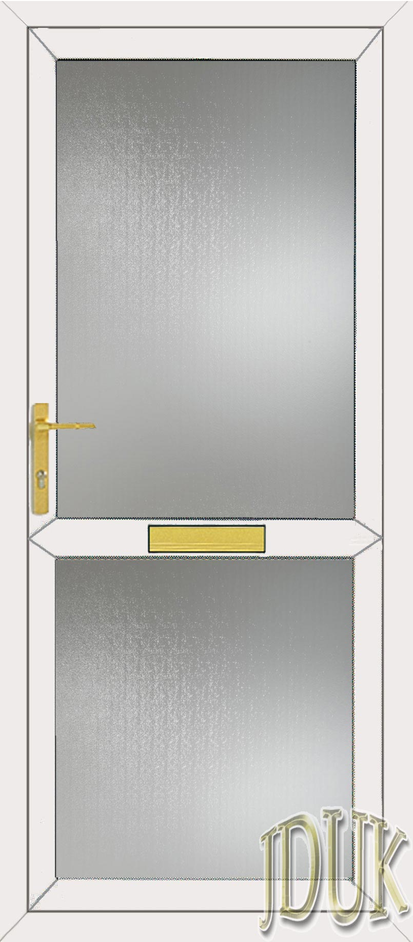 Standard specification for Upvc glass front doors