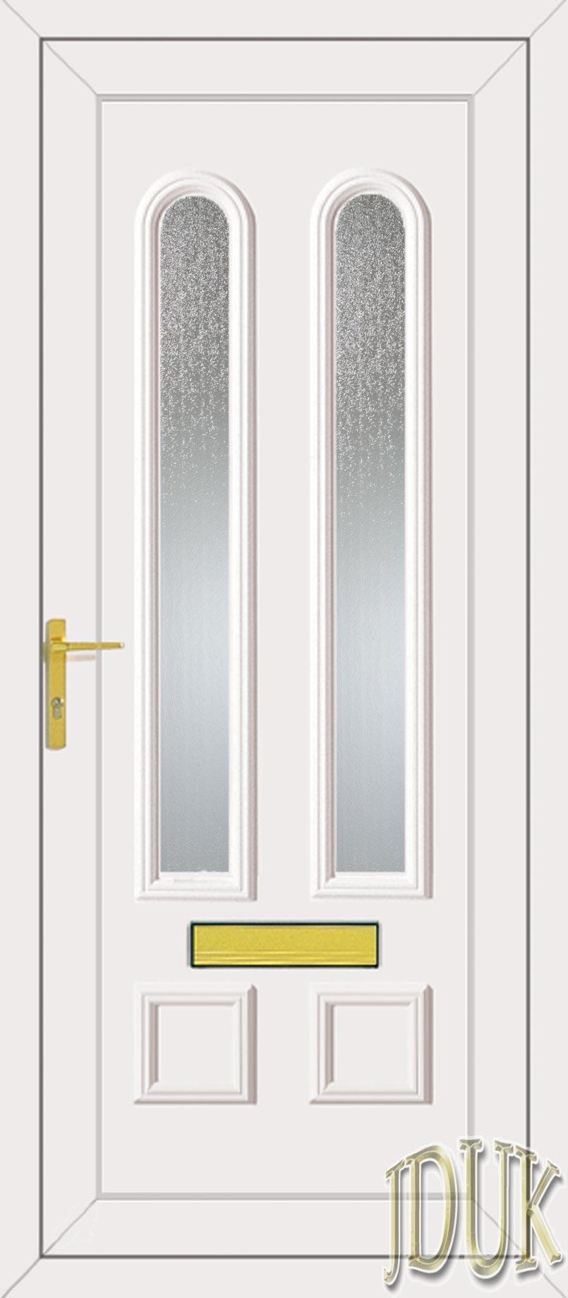 Grant Two Glazed Upvc Front Door