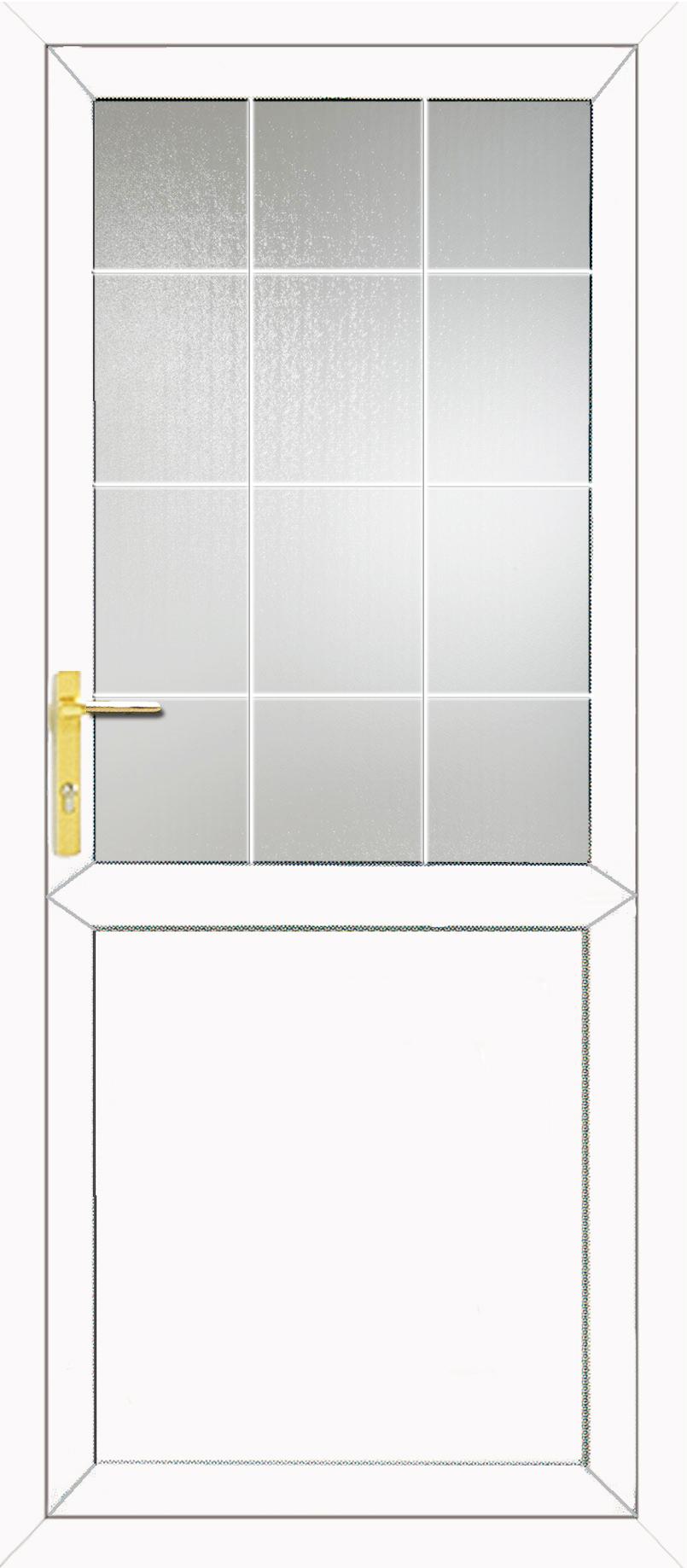Half glazed flat panel 2xg style georgian bar upvc back door for Upvc french doors with georgian bar