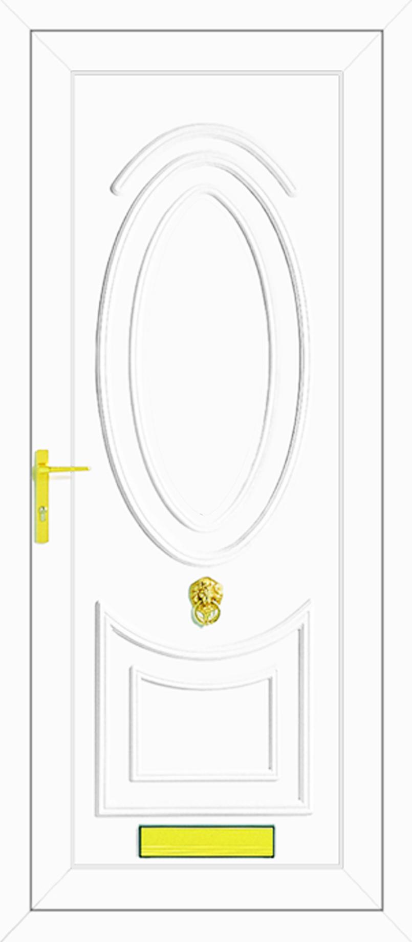 Jefferson solid upvc back door for Solid back doors