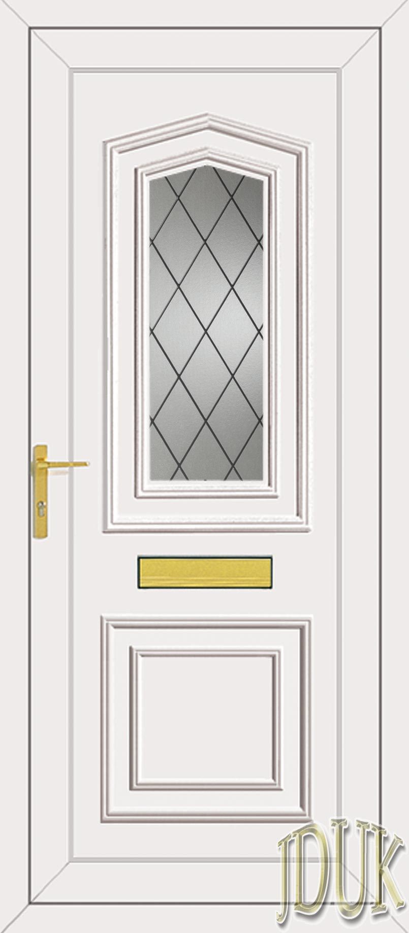 Johnson One Diamond Lead UPVC Front Door | 805 x 1837 · 93 kB · jpeg