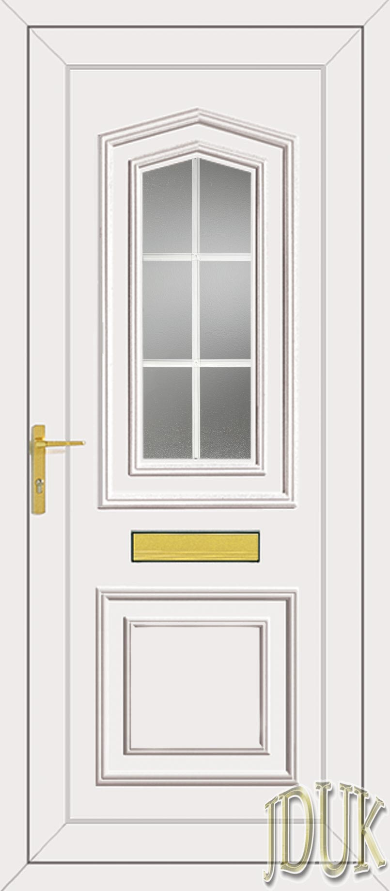 Johnson one georgian bar upvc front door for Upvc front doors