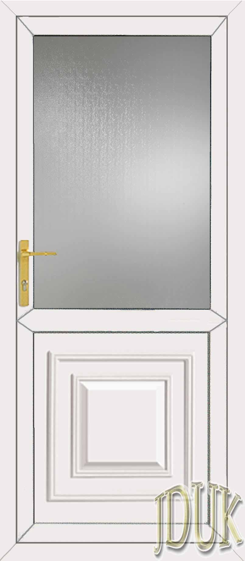 Orleans half panel upvc back door for Back door with glass panels
